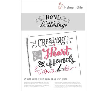 Hand Lettering Pads 170gsm 25 sheet pad 8.26x 11.69""