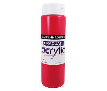 GRADUATE ACRYLIC 500ML PRIMARY RED