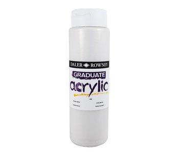 GRADUATE ACRYLIC 500ML PEARL WHITE