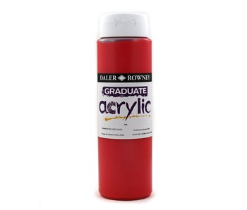 GRADUATE ACRYLIC 500ML CADMIUM RED DEEP HUE