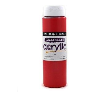 GRADUATE ACRYLIC 500ML CADMIUM RED DEEP HUE
