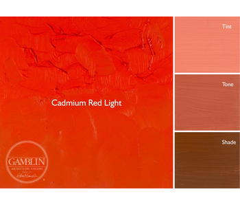 GAMBLIN ARTIST'S OIL COLORS 37ML CADMIUM RED LIGHT