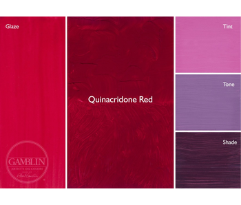 GAMBLIN ARTIST'S OIL COLORS 37ML QUINACRIDONE RED
