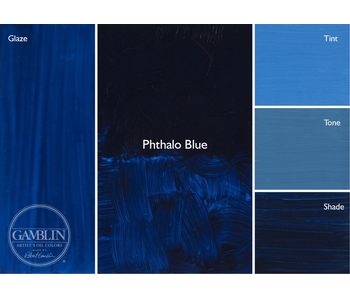 GAMBLIN ARTIST'S OIL COLORS 37ML PHTHALO BLUE