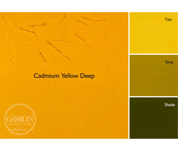 GAMBLIN ARTIST'S OIL COLORS 37ML CADMIUM YELLOW DEEP