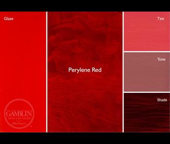 GAMBLIN ARTIST'S OIL COLORS 37ML PERYLENE RED