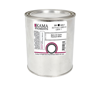 KAMA PIGMENTS ARTIST OIL 1L TITANIUM WHITE SERIES 1