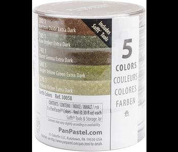 PanPastel 5 Colour Extra Dark Shades Earth