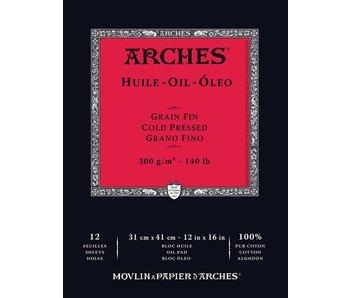 ARCHES OIL PAD 12X16 12SH