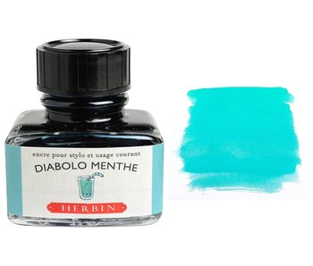 J. HERBIN FOUNTAIN PEN INK 30ML DIABLO MENTHE MINT