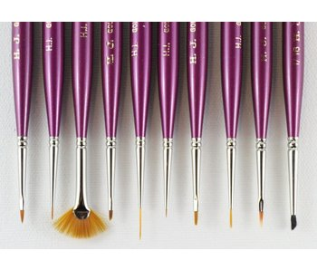 HJ MINIATURE GOLD SABLE BRUSH ANGULAR #10/0