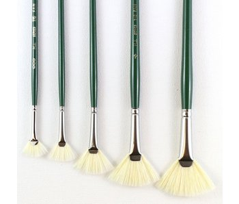 HJ SERIES 115 SHORT HANDLE BRISTLE BRUSH FAN #2