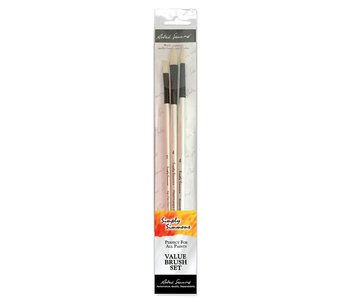 SIMPLY SIMMONS TEACHERS CHOICE 3 BR INTERLOCKED BRISTLE BRUSH SET