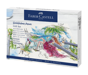 Faber Castell Goldfaber Aqua Water Coloured Pencil Gift Set