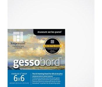 """AMPERSAND MUSEUM GESSOBORD 2"""" CRADLED 6x6"""