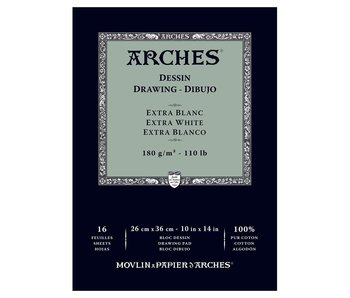 ARCHES DRAWING EXTRA WHITE 110LB 10X14 16 SHEETS