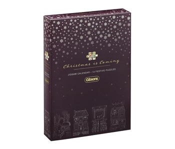 Gibsons Puzzle 80 Chrismas is Coming Advent Calendar (12 puzzles)