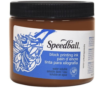 SPEEDBALL BLOCK PRINTING INK 16OZ BROWN