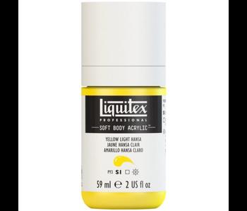 LIQUITEX SOFT BODY ACRYLIC  59ML Hansa Yellow Light
