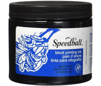 SPEEDBALL BLOCK PRINTING INK 16OZ BLACK