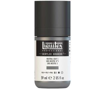 LIQUITEX ACRYLIC GOUACHE 59ML NEUTRAL GREY 5