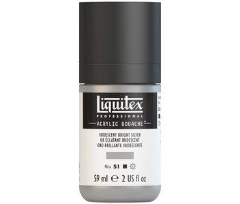 LIQUITEX ACRYLIC GOUACHE 59ML IRIDESCENT BRIGHT SILVER