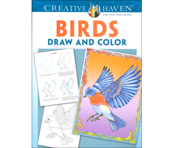CREATIVE HAVEN COLORING BOOK: BIRDS DRAW AND COLOR