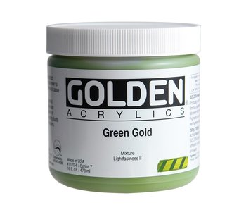 Golden 16 Oz Green Gold Series 7 Heavy Body Artist Acrylic Paint HB