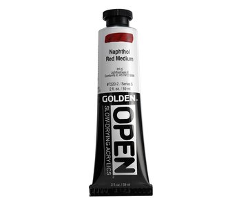 Golden Open 2 Oz Naphthol Red Medium Series 5 Acrylic