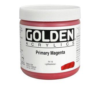 Golden 16Oz Primary Magenta Series 6 Heavy Body Artist Acrylic Paint HB