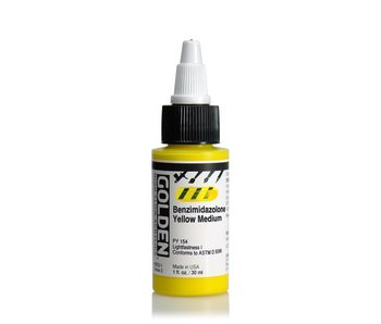 Golden High Flow 1Oz Benzimidazolone Yellow Medium Series 3 High Flow Acrylic Ink