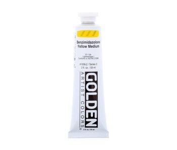 Golden 2Oz Benzimidazolone Heavy Body Yellow Medium, Series 3 Artist Acrylic Paint