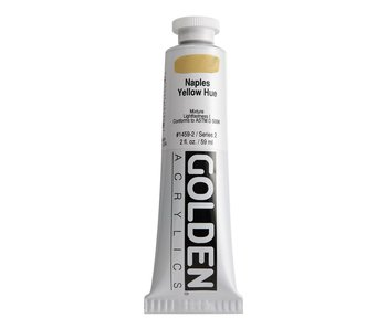 Golden 2Oz Naples Yellow Hue Heavy Body Series 2 Artist Acrylic Paint