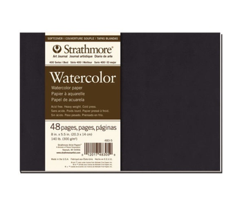 STRATHMORE WATERCOLOR JOURNAL 140LB 5.5x8