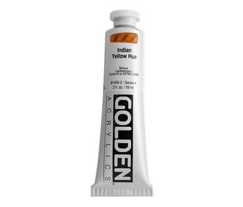 Golden 2Oz Indian Yellow Hue Heavy Body Series 4 Artist Acrylic Paint