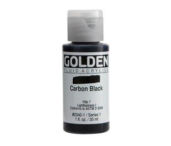Golden 1Oz Fluid Carbon Black Series 1 Artist Acrylic Paint