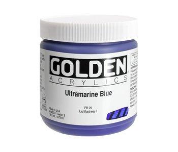 Golden 16Oz Ultramarine Blue Series 2 Heavy Body Artist Acrylic Paint HB