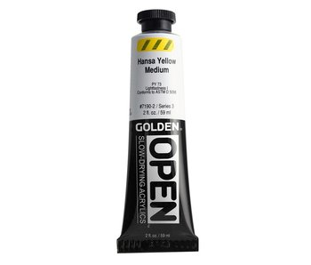 Golden Open 2Oz Hansa Yellow Medium Series 3 Acrylic