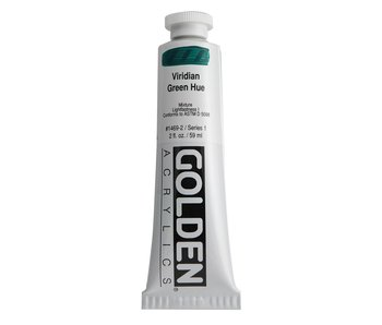 Golden 2Oz Viridian Green Hue Heavy Body Series 1 Artist Acrylic Paint