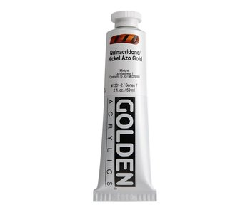 Golden 2Oz Quinacridone Nickel Azo Gold Heavy Body Series 7 Artist Acrylic Paint