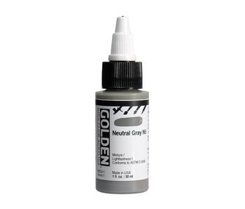 Golden High Flow 1Oz Neutral Gray N5 Series 1 High Flow Acrylic Ink