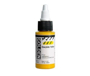 Golden High Flow 1Oz Diarylide Yellow Series 6 High Flow Acrylic Ink