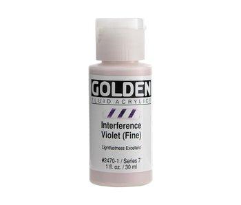 Golden 1Oz Fluid Interference Violet (Fine) Series 7 Artist Acrylic Paint