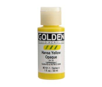 Golden 1Oz Fluid Hansa Yellow Opaque Series 4 Artist Acrylic Paint