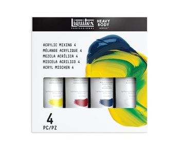 Liquitex Acrylic PRIMARY CLR MIXNG SET 4 Heavy Body