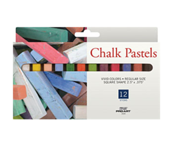 PROART CHALK PASTELS 12 STICKS