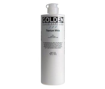 Golden 16Oz Fluid Titanium Whiteseries 1 Heavy Body Artist Acrylic Paint HB
