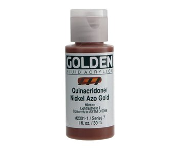 Golden 1Oz Fluid Quinacridone Nickel Azo Gold Series 7 Artist Acrylic Paint