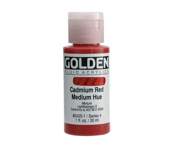 Golden 1Oz Fluid Cadmium Red Medium Hue Series 4 Artist Acrylic Paint