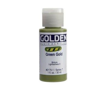 Golden 1Oz Fluid Green Gold Series 7 Artist Acrylic Paint